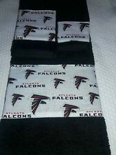 Atlanta Falcons 3 Piece Bath Towel Set Handmade GREAT GIFT!!!!