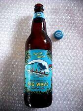 EMPTY HAWAII BEER BOTTLE - KONA BREWING BIG WAVE GOLDEN ALE 22oz with CAP LABEL