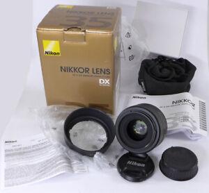 Nikon Nikkor 35mm f1.8G AF-S DX prime lens in box w/HB-46 hood usa item nice NR