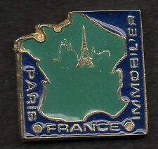 1 PIN'S  PARIS FRANCE IMMOBILIER - EPAIS QUALITE COLLECTION