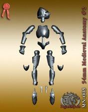 Pegaso Models 54mm Medieval Anatomy #2 White Metal Figure Base Mannequin #MN-005