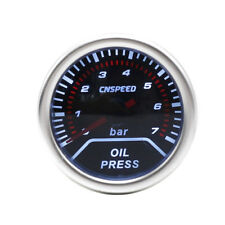 52mm DG Smoked Face Oil Pressure Gauge 7 Bar