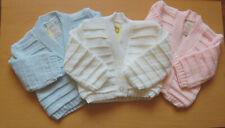 BABY GIRL/BOY V NECK CARDIGAN CARDI 0-3 3-6 6-9 6-12 MONTHS PINK/BLUE/WHITE #2