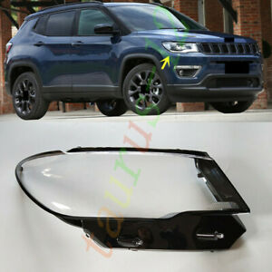 For Jeep Compass 2017-2022 Right Side Headlight Clear Lens Cover+Sealant Glue