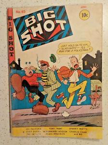 Big Shot #65 ! 1946 ! SKYMAN ! JOE PALOOKA ! GOOD PAGES except... hayfamzone