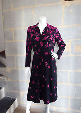 Robe Vintage Jean Biolay PARIS 1980 Taille 46/48 - VTG Dress Size XXL