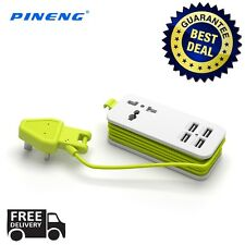 PINENG PN-333 Extension Universal 4 USB Ports Charging Adapter Power Socket