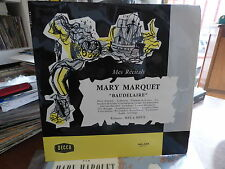 Mary Marquet - mes récitals :  Baudelaire - decca 163.134
