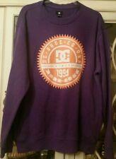 Vtg DC Shoes Skateboard Sweatshirt Men's Retro Logo Purple Orange - Size XL