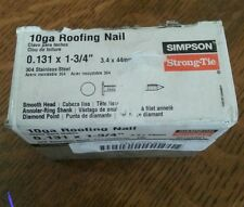 """SIMPSON STRONG-TIE 10GA ROOFING NAIL STAINLESS STEEL 1LB S510ARN1 0.131 x 1 3/4"""""""