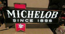 Large Vintage Michelob Beer Lighted Sign Figural Htf Bar Pub Light Since 1896