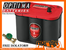 OPTIMA 34 RED TOP||SPIRAL CELL||12V||CAR|HEAVY DUTY||4X4|ISOLATOR|AGM|800CCA|LHP