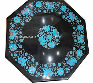 """Handcrafted Accent Table Top Semi  precious Stones inlaid Work Hallway Decor 21"""""""