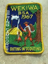 VINTAGE WEKIWA 1967 SPRING CAMPOREE -  OUTING IN SCOUTING B.S.A.  PATCH