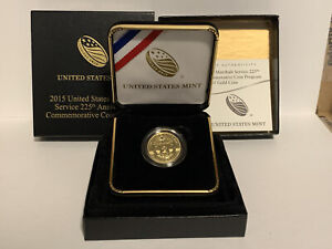 2015 US Marshals Service 225th Anniversary Commemorative $5 Gold Proof Coin