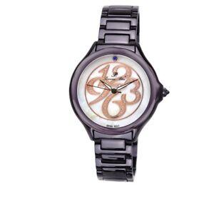 Porsamo Bleu Paris luxury diamond women's stainless steel watch, purple 132CPAS