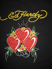#6929 ED HARDY SS TOP SHIRT WOMEN'S GIRLS ONE SIZE GOOD USED