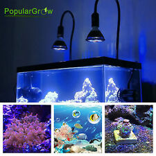 PopularGrow 12W LED Aquarium Light Bulb E27 Base For Fish Tank Coral & Live Rock