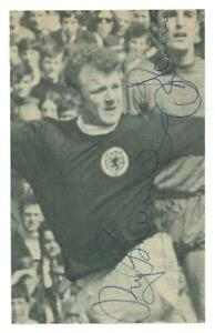Billy Bremner + Ron Davies signed Scotland vs Wales photo magazine picture