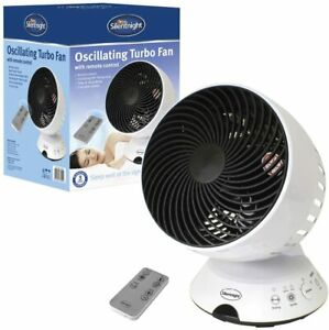 SILENTNIGHT 3 SPEED TOUCH PANEL/REMOTE CONTROL DESK TURBO FAN WITH TIMER