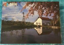 Milton Bradley 2500 Piece Jigsaw Puzzle Pond With Barn Factory Sealed