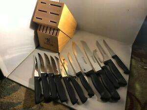 J.A. Henckels International Ever Edge 12 Piece Knife and Block Set
