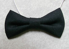 Boys Bow Tie Elasticated Bowtie UNISEX Boy Girl BLACK