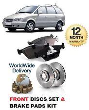 Para Hyundai Trajet 2.0i Gsi 2004-12/2007 Juego de Discos Freno Delantero +