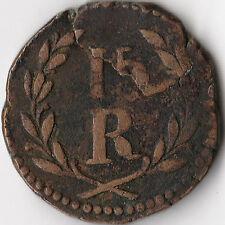 ND (1834-53) Portuguese India - Goa 15 Reis Coin KM#263 Rare