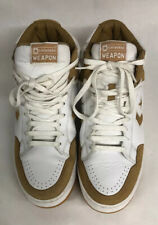CONVERSE WEAPON SUEDE WHITE/BROWN BASKETBALL SHOES SIZE 12 RARE!!!
