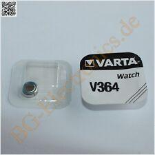 5 x V364 Batteries for Watches SR60, SR621SW  Varta  5pcs