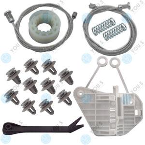 For Smart Cabriolet (450) Electric Window Regulator Repair Kit+Tool Front Left
