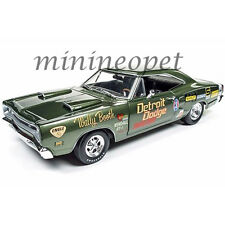AUTOWORLD AW234 WALLY BOOTH 1969 DODGE CORONET SUPER BEE 1/18 DIECAST CAR GREEN