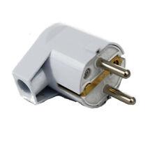 Winkelstecker, Schukostecker, Stromstecker weiß 1,5 mm² Querschnitt Stromkabel