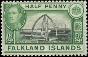 Falkland Islands 1938 Sc 84 Whale Jawbones Ship
