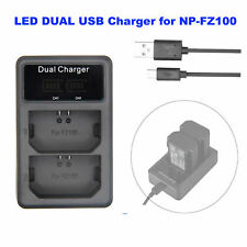 DUAL USB Battery Charger for Sony NP-FZ100 A7R M3 A9 A7 R III Alpha Camera
