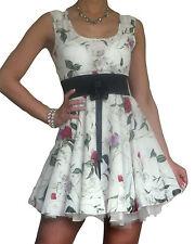 Chiffon Floral Scoop Neck Skater Dresses for Women