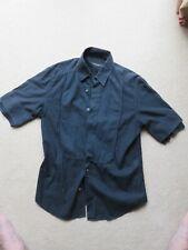 Men's Neil Barrett Dark Blue Short Sleeve Shirt - Size S