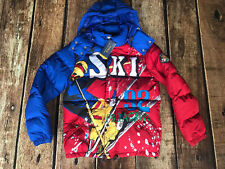 Polo Ralph Lauren Ski 92 USA Downhill Suicide Skier Down Jacket Snow Beach XS