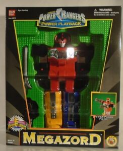 Mighty Morphin Power Rangers Megazord Playback Medium Size Bandai Case Fresh!