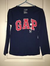 Nwt Baby Gap 5T Blue Playtime Favorite pink Logo Top L/S Toddler Girl Shirt