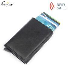 Men's RFID Blocking Wallet Leather Credit Card Holder Cash Clip Mini Male Purse