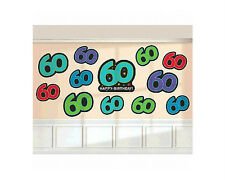60th Birthday Party Supplies 60th BIRTHDAY CUTOUTS Decorations Genuine