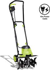 1500W Electric Garden Tiller – Garden Soil Cultivator/Rotavator with 6 Metal Bla