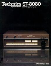 Technics ST-8080 vintage FM AM tuner b&w PAPER COPY of the very rare brochure