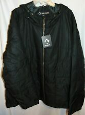 NWT Mens DRI DUCK Lined BLACK Tuff Tech Puffer Hooded Coat Size 4XL Chest 66""