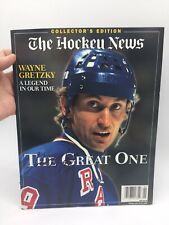 "THE HOCKEY NEWS MAGAZINE SIGNED "" WAYNE GRETZKY 99 "" COLLECTOR'S EDITION 1999"
