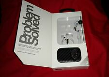 RARE NEW SkullCandy Skull Candy THE FIX White Chrome Ear Buds Mic 3 With Case!