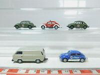 AZ433-0,5# 5x Schuco H0/(1:87) VW: Feuerwehr/FW+Aero Serviceromans+DRG, s.g.