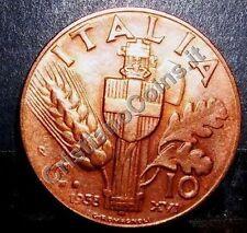 10 centesimi Impero 1938  FDC  rame rosso sig./periz.to